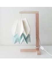 Lampa stołowa Polar White with Mint Blue Stripe Orikomi papierowa oprawa stołowa w stylu design