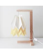 Lampa stołowa Polar White with Pale Yellow Stripe Orikomi papierowa oprawa stołowa w stylu design