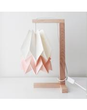 Lampa stołowa Polar White with Pastel Pink Stripe Orikomi papierowa oprawa stołowa w stylu design