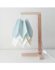 Lampa stołowa Mint Blue with Polar White Stripe Orikomi papierowa oprawa stołowa w stylu design