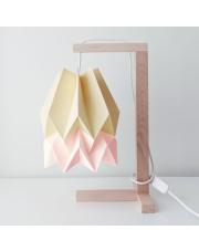 Lampa stołowa Pale Yellow with Pastel Pink Stripe Orikomi papierowa oprawa stołowa w stylu design