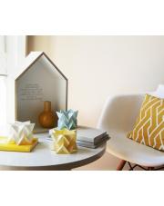 Tealights Polar White | Pale Yellow | Mint Blue Orikomi zestaw trzech dekoracyjnych papierowych świeczników