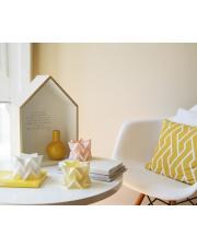 Tealights Polar White | Pale Yellow | Pastel Pink Orikomi zestaw trzech dekoracyjnych papierowych świeczników