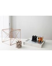 Tealights Light Taupe | Dark Black | Warm Gold Orikomi zestaw trzech dekoracyjnych papierowych świeczników
