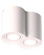 Plafon Basic Round II C0085 Maxlight podwójna oprawa w kolorze białym