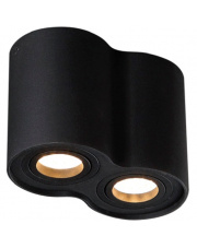 WYSYŁKA 24h Plafon Basic Round II C0086 Maxlight podwójna oprawa w kolorze czarnym