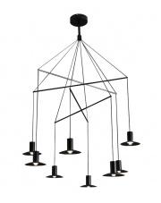 Lampa wisząca Hat 8 LP-1661/3P BK Light Prestige czarna designerska lampa wisząca