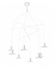Lampa wisząca Hat 8 LP-1661/3P WH Light Prestige biała designerska lampa wisząca