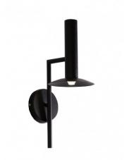 Kinkiet Hat LP-1661/1W BK Light Prestige czarna designerska lampa na ścianę