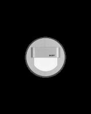 Oprawa schodowa Rueda Skoff okrągła oprawa w kolorze aluminiowym