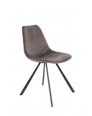 Krzesło do jadalni szare Franky 1100369 designerskie krzesło vintage Dutchbone