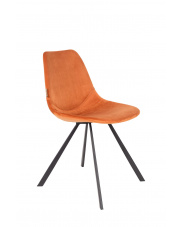 Krzesło do jadalni pomarańczowe Franky 1100371 designerskie krzesło vintage Dutchbone
