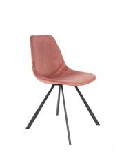 Krzesło do jadalni różowe Franky 1100368 designerskie krzesło vintage Dutchbone