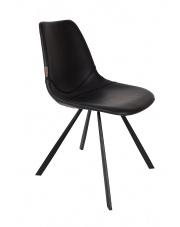 Krzesło do jadalni czarne Franky 1100280 designerskie krzesło vintage Dutchbone