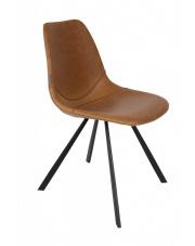 Krzesło do jadalni brązowe Franky 1100281 designerskie krzesło vintage Dutchbone