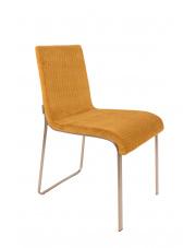 Krzesło w stylu glamour musztardowe Flor 1100291 krzesło do kuchni Dutchbone