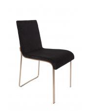 Krzesło w stylu glamour czarne Flor 1100290 eleganckie krzesło do kuchni Dutchbone