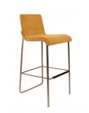 Hoker elegancki w stylu glamour Flor 1500243 stołek barowy w kolorze musztardowym Dutchbone