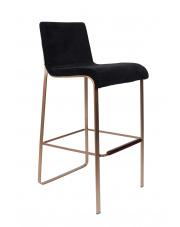 Hoker elegancki w stylu glamour Flor 1500242 stołek barowy w kolorze czarnym Dutchbone