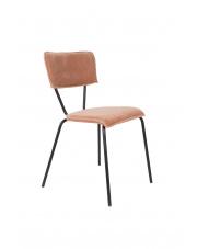 Krzesło w obiciu aksamitnym Melonie 1100347 krzesło w stylu glamour Dutchbone