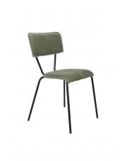 Krzesło w zielonym obiciu aksamitnym Melonie 1100348 krzesło w stylu glamour Dutchbone