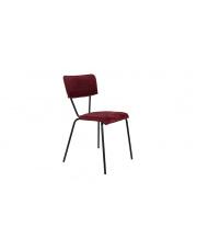 Krzesło w bordowym obiciu aksamitnym Melonie 1100349 krzesło w stylu glamour Dutchbone