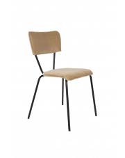 Krzesło w piaskowym obiciu aksamitnym Melonie 1100346 krzesło w stylu glamour Dutchbone