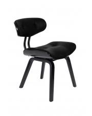 Krzesło designerskie czarne Blackwood 1100297 fotel stylizowany Dutchbone