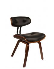 Krzesło designerskie czarne Blackwood 1100240 fotel drewniany Dutchbone