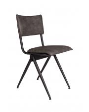 Krzesło antracytowe vintage z metalową ramą Willow 1100403 Dutchbone