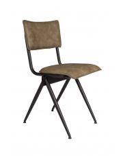 Krzesło zielone vintage z metalową ramą Willow 1100344 Dutchbone