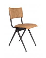 Krzesło brązowe vintage z metalową ramą Willow 1100345 Dutchbone