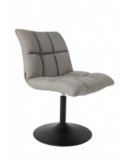 Krzesło obrotowe szare Mini Bar 1100258 fotel nowoczesny do jadalni Dutchbone