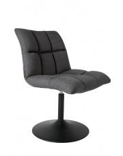 Krzesło obrotowe ciemnoszare Mini Bar 1100259 fotel nowoczesny do jadalni Dutchbone