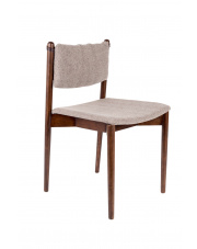 Krzesło retro z drewnianą ramą Torrance 1100363 obicie w jodełkę Dutchbone
