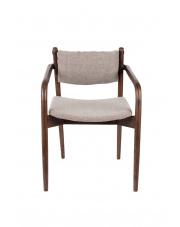 Fotel retro z drewnianą ramą Torrance 1200168 obicie w jodełkę Dutchbone