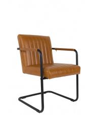 Fotel brązowy w stylu retro Stitched 1200117 Dutchbone