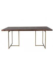 Stół do jadalni z mosiężnymi nogami Class stół w stylu glamour Dutchbone