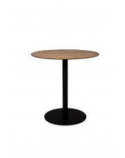 Stolik okrągły na nóżce Braza 2100089 brązowy stolik bistro Dutchbone