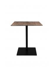 Stolik kwadratowy na nóżce Braza 2100091 czarny stolik bistro Dutchbone