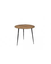 Stolik kawowy okrągły 45 cm brązowy Pepper 2300163 stolik w stylu vintage Dutchbone