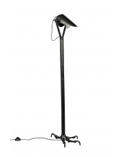 Lampa podłogowa w stylu vintage Falcon 5100072 metalowa czarna oprawa podłogowa Dutchbone