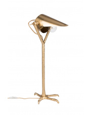 Lampa stołowa stylizowana Falcon 5200064 metalowa mosiężna oprawa biurkowa Dutchbone