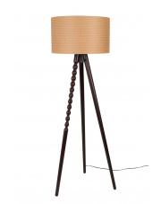 Lampa podłogowa brązowa retro Arabica 5100046 drewniana lampa stojąca Dutchbone