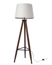 Lampa podłogowa drewniana Rif 5100041 lampa stojąca z bawełnianym abażurem Dutchbone