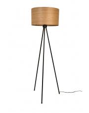 Lampa podłogowa z metalową podstawą Woodland 5100032 lampa biurkowa jesion Dutchbone