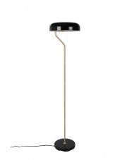 Lampa podłogowa stylizowana czarna Eclipse 5100059 lampa stojąca z mosiężnymi elementami Dutchbone