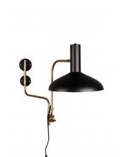 Kinkiet czarno-złoty w stylu vintage Devi 5400009 lampa ścienna Dutchbone