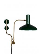 Kinkiet zielono-złoty w stylu vintage Devi 5400008 lampa ścienna Dutchbone