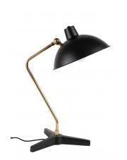 Lampa biurkowa czarno-złota w stylu vintage Devi 5200037 lampka stołowa Dutchbone